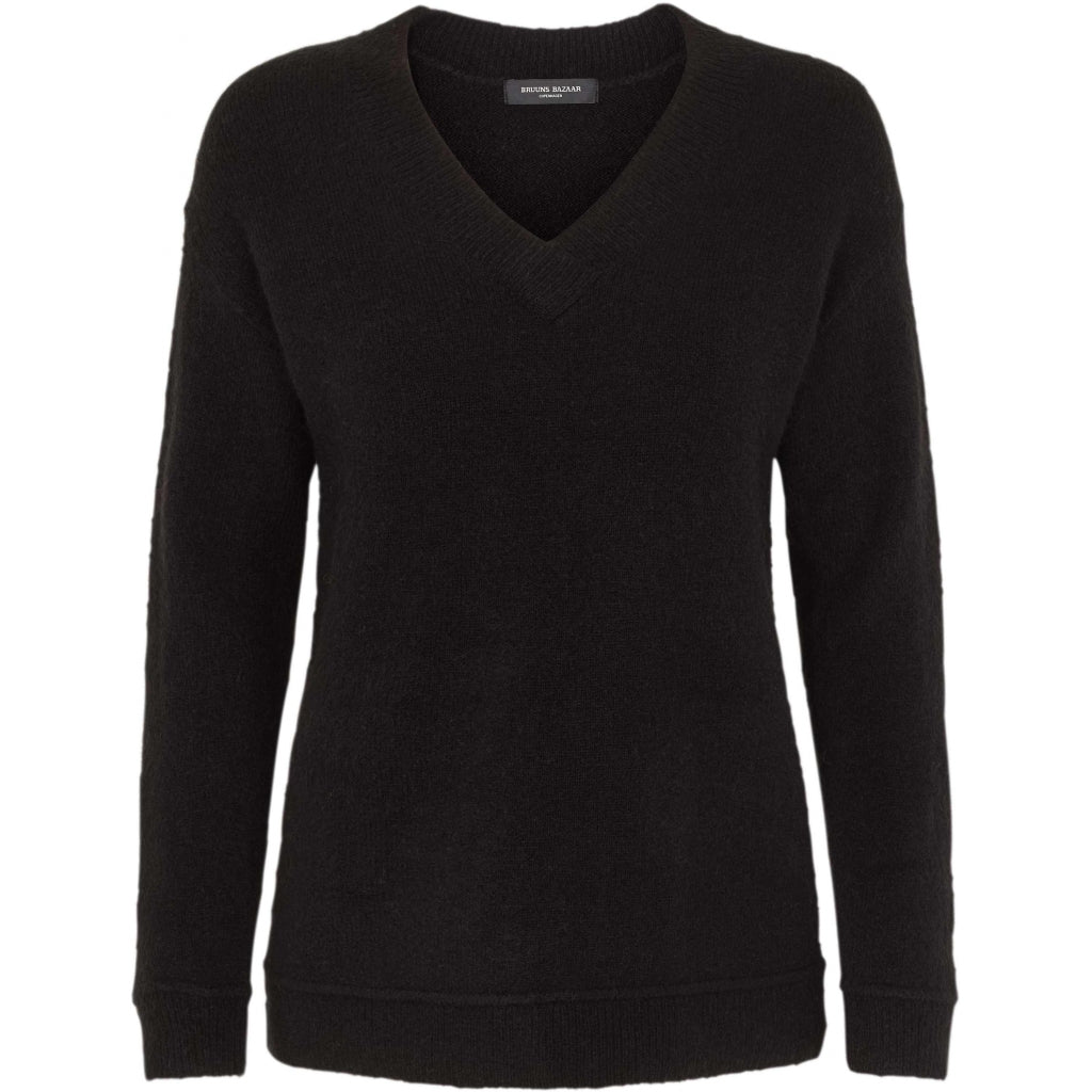 Bruuns Bazaar Women Holly Aura v-neck Knit Sort