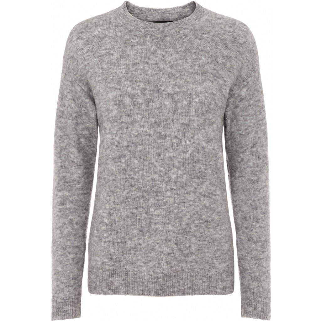 Bruuns Bazaar Women Holly Johanne strik Knit Light grey mel