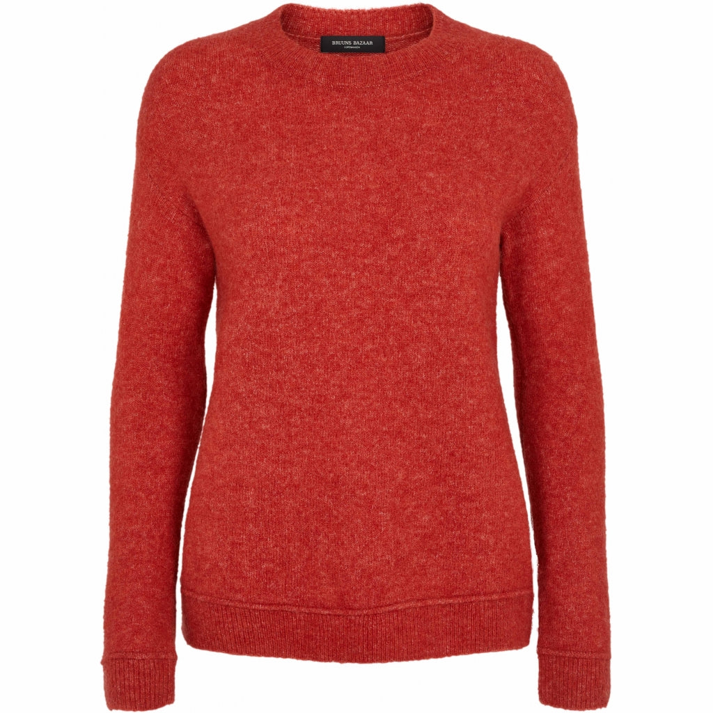 Bruuns Bazaar Women Holly Johanne strik Knit Poppy Red