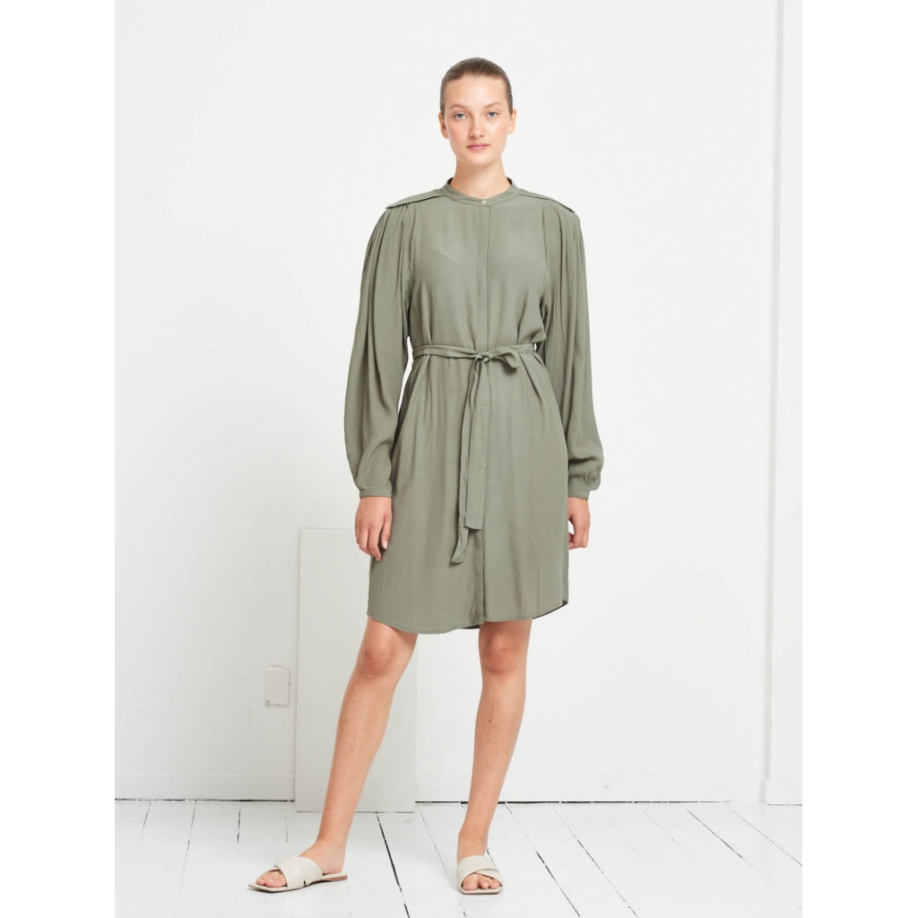 Bruuns Bazaar Women Lilli Cacilia shirt dress Dress Moss