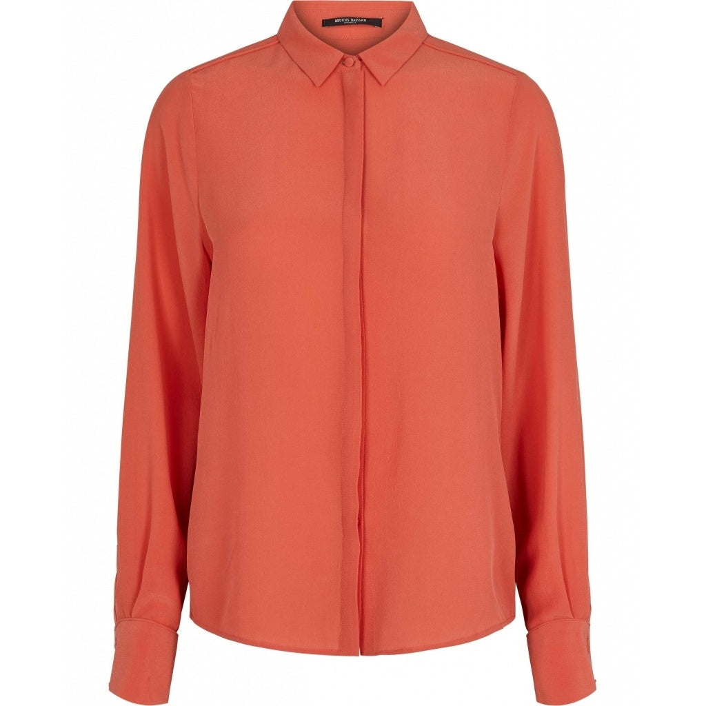 Bruuns Bazaar Women Lillie Corinne bluse Shirts Poppy Red
