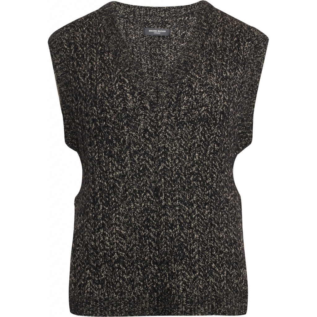 Bruuns Bazaar Women Linne Chio vest Knit Roasted Grey Khaki