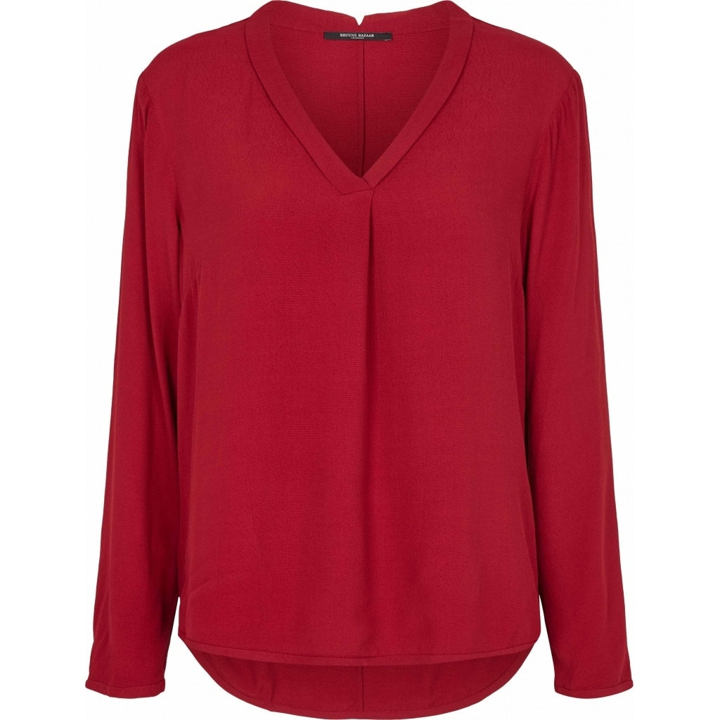 Bruuns Bazaar Women Liva bluse Tops Biking Red