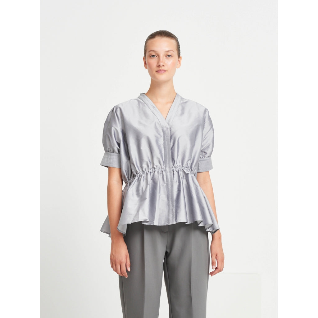 Bruuns Bazaar Women Parsley Desi blouse Shirts Dawn Grey