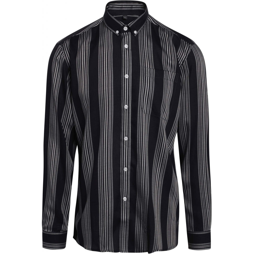 Bruuns Bazaar Men Ralf 3 tencel shirt Shirts Navy - Striped