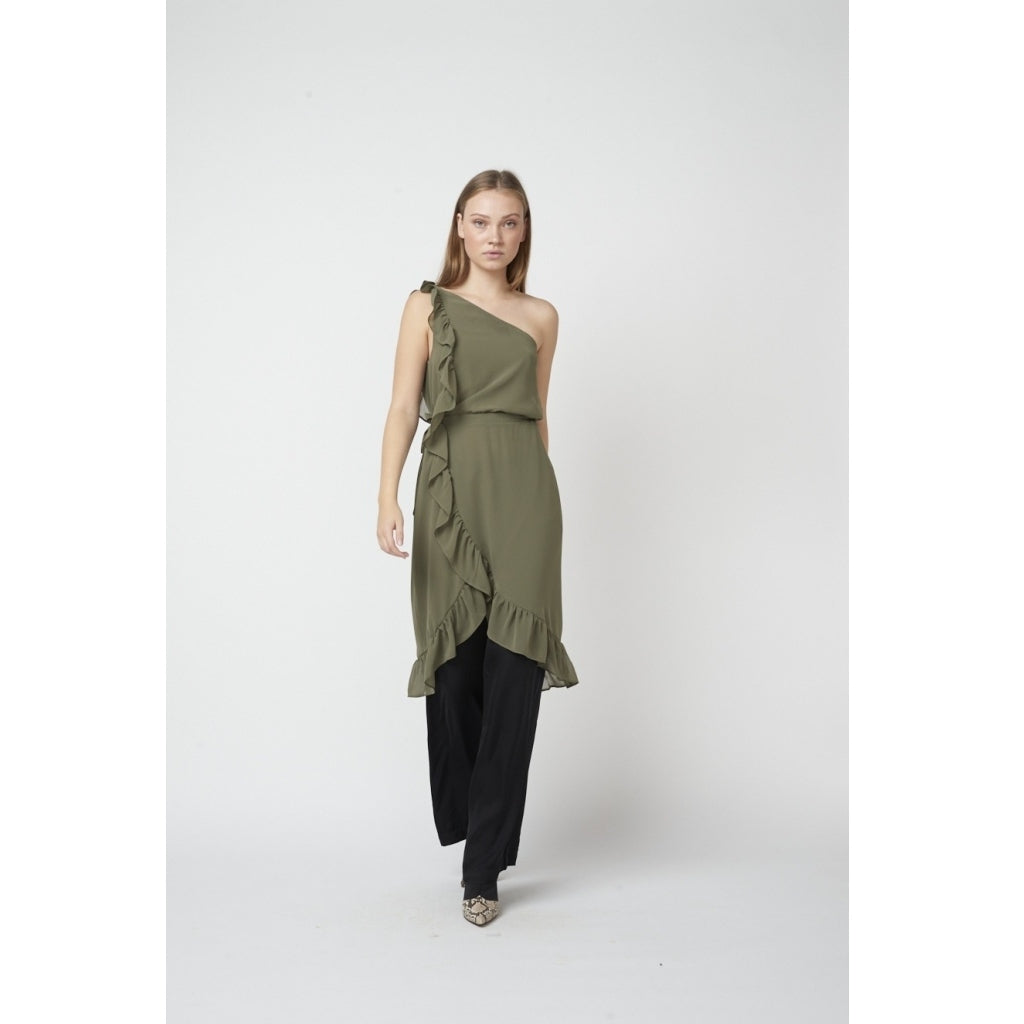 Bruuns Bazaar Women Rosalina Kendra Kjole Dress Olive tree