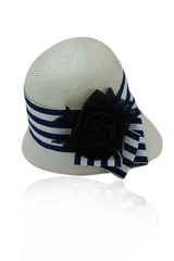 Cloche Hat Signature Navy