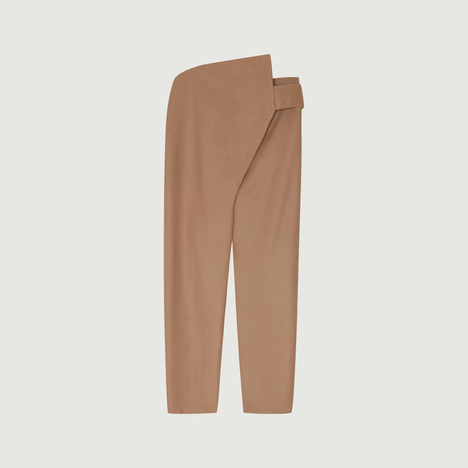 Samka Wrap Trousers Dark Camel