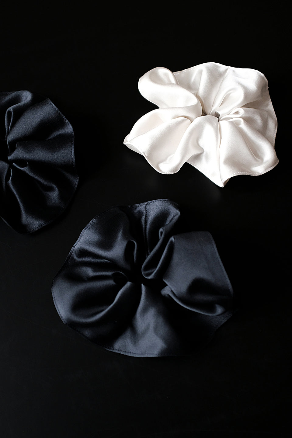 Silk Scrunchie Midnight Blue