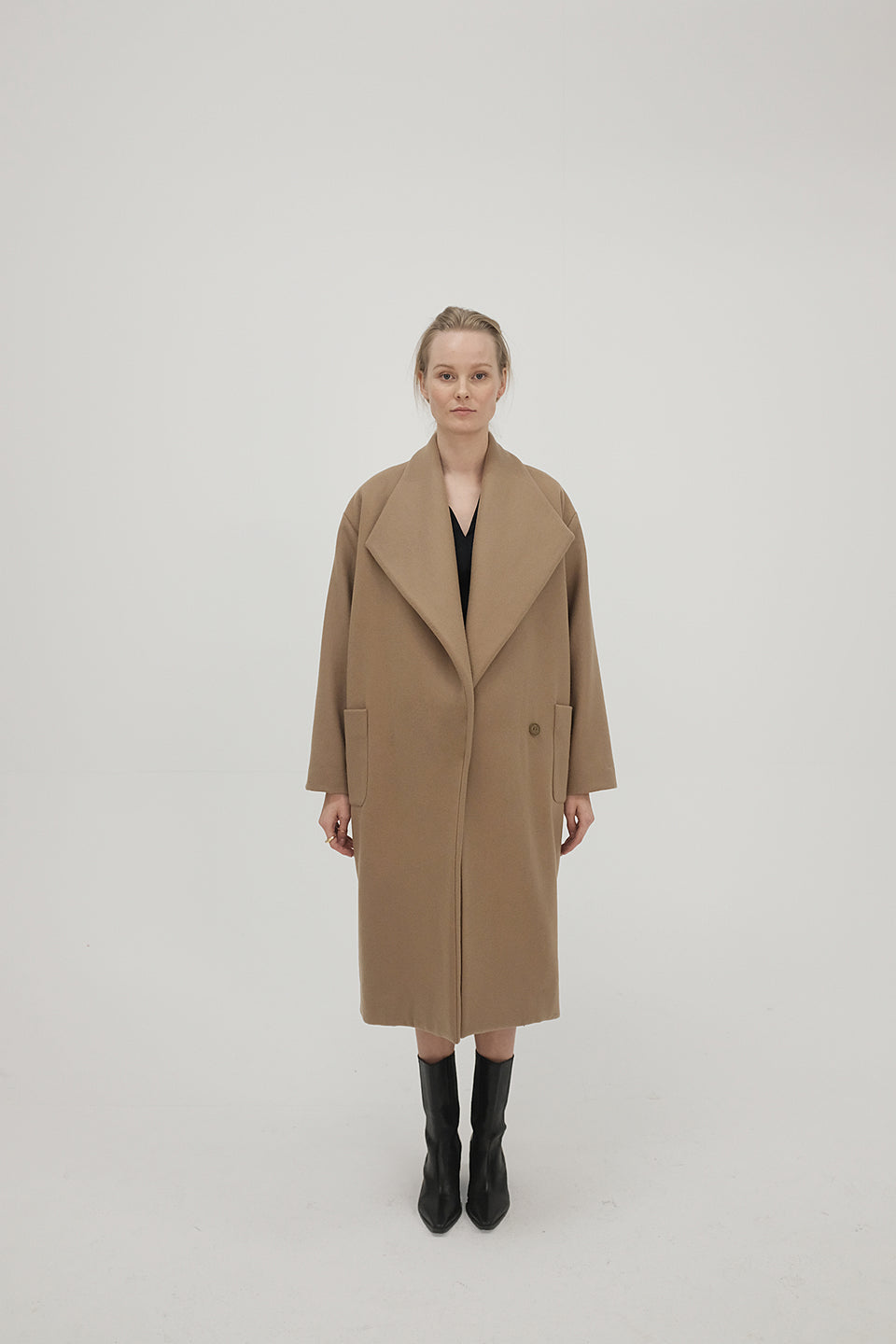 Majka Coat Dark Camel