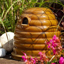 Load image into Gallery viewer, Ceramic Bee Skep - Bumblebee Nester - NatureTree