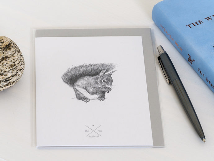Red Squirrel Greetings Card - NatureTree