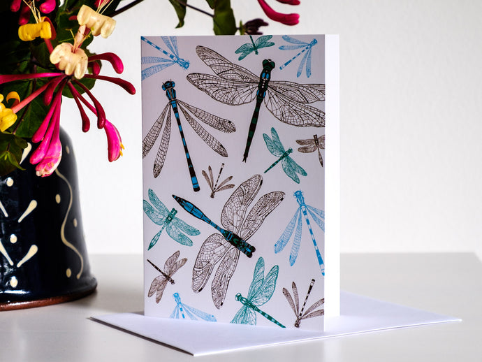 Dynamic Dragonfly Greetings Card - NatureTree