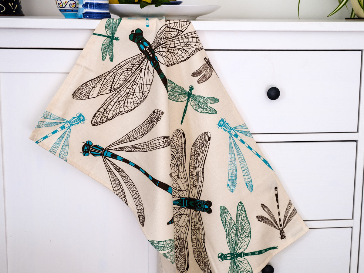 Dynamic Dragonfly Tea Towel - NatureTree