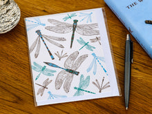 Load image into Gallery viewer, Dynamic Dragonfly Greetings Card - NatureTree