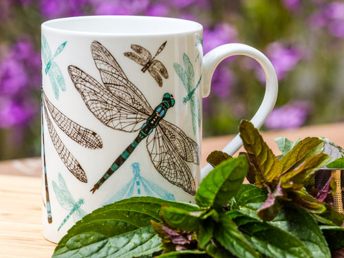 Dynamic Dragonfly Bone China Mug - NatureTree
