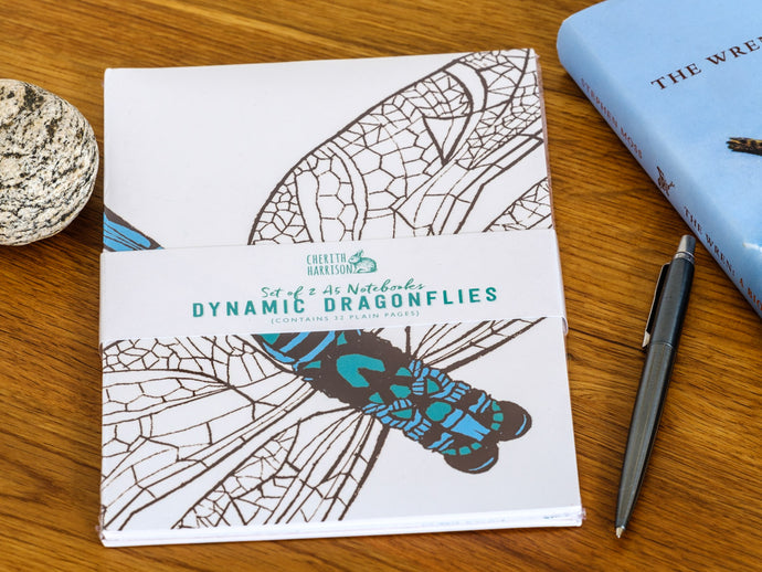 Dynamic Dragonfly A5 Notebooks - 2 Pack - NatureTree