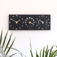Load image into Gallery viewer, Recycled Moon, Time and Tide Clock - NatureTree