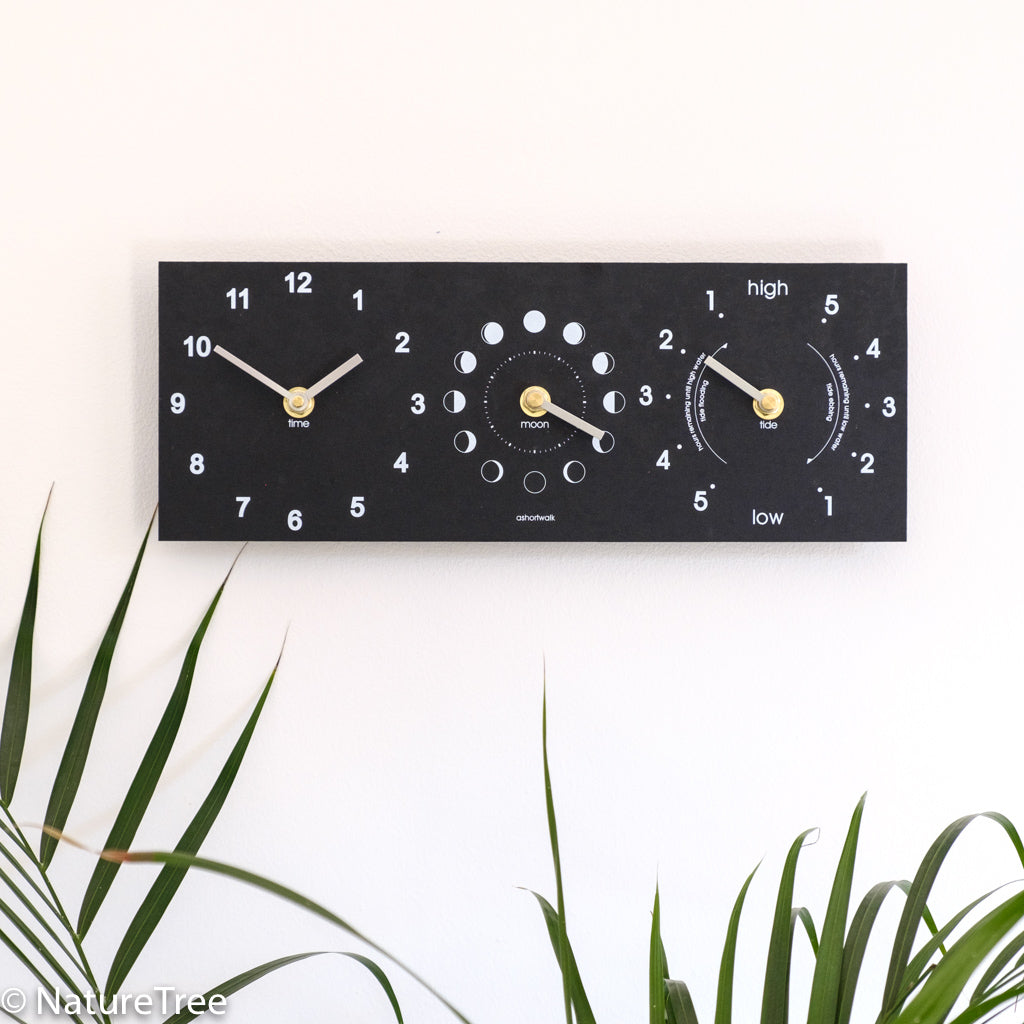 Recycled Moon, Time and Tide Clock - NatureTree
