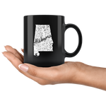 Black 11oz Mug: Alabama Vintage