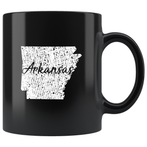 Black 11oz Mug: Arkansas Vintage