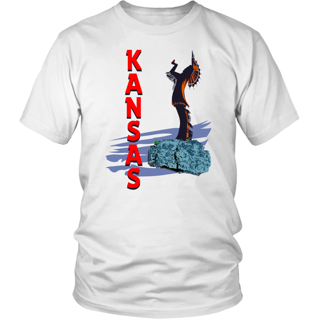 District Unisex Shirt: Kansas