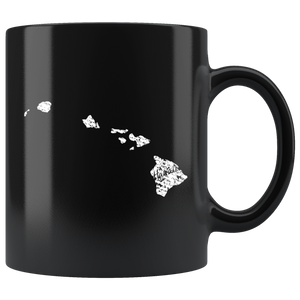 Black 11oz Mug: Hawaii Vintage