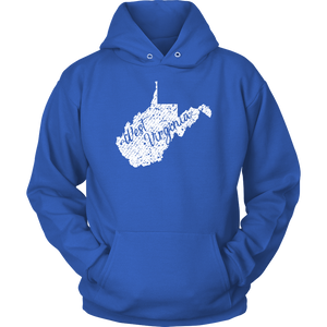 Unisex Hoodie: West Virginia Vintage