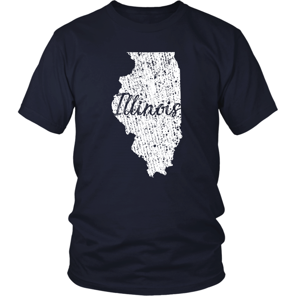 District Unisex Shirt: Illinois Vintage