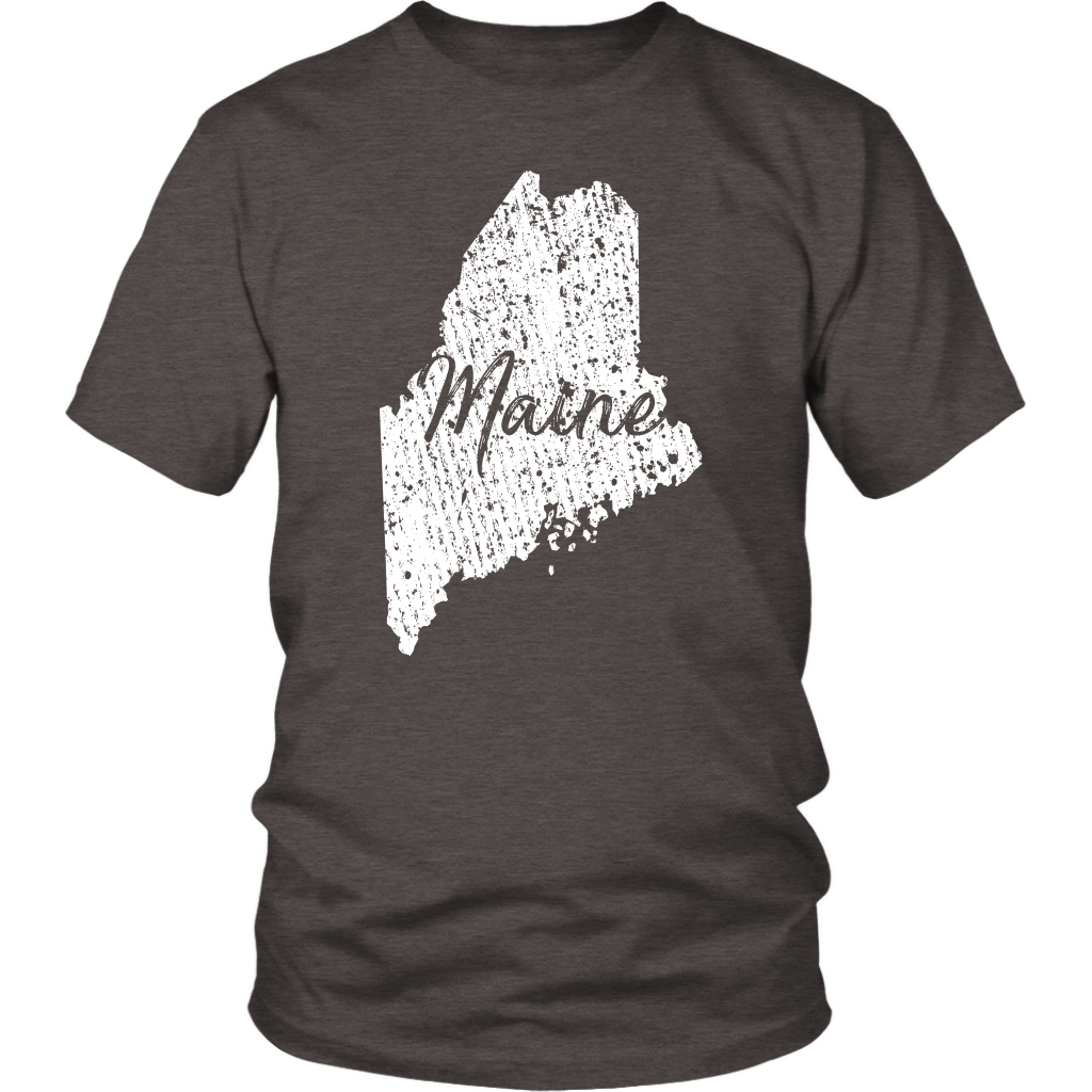 District Unisex Shirt: Maine Vintage