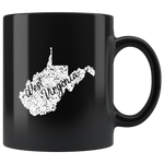 Black 11oz Mug: West Virginia Vintage
