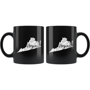 Black 11oz Mug: Virginia Vintage
