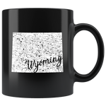 Black 11oz Mug: Wyoming Vintage