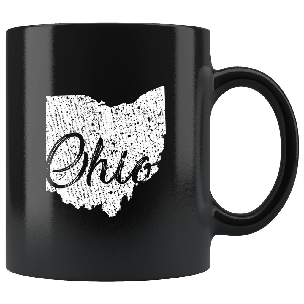 Black 11oz Mug: Ohio Vintage