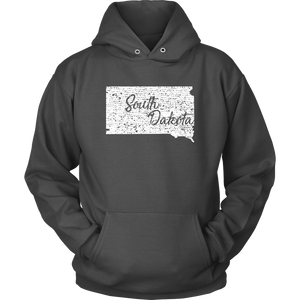 Unisex Hoodie: South Dakota Vintage