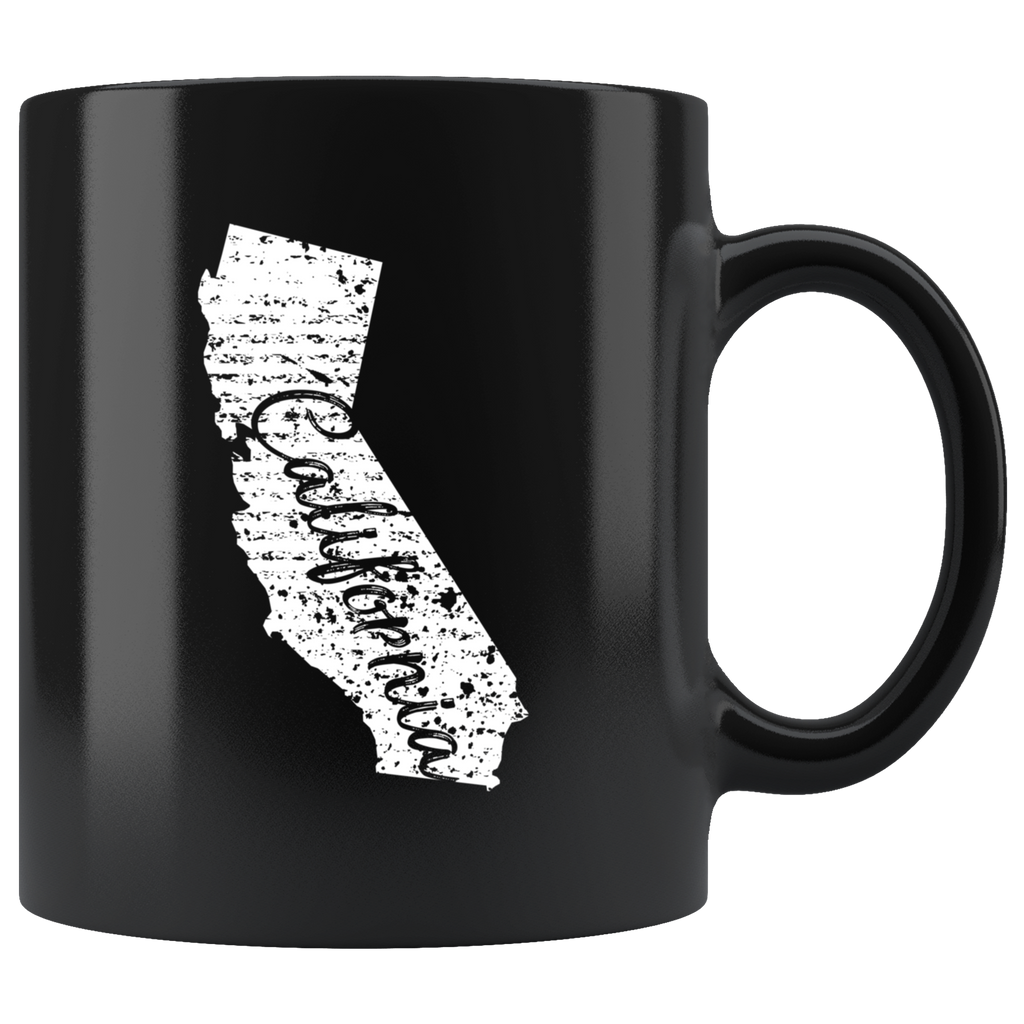 Black 11oz Mug: California Vintage