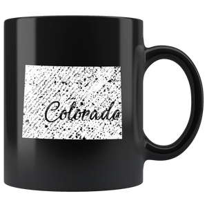 Black 11oz Mug: Colorado Vintage