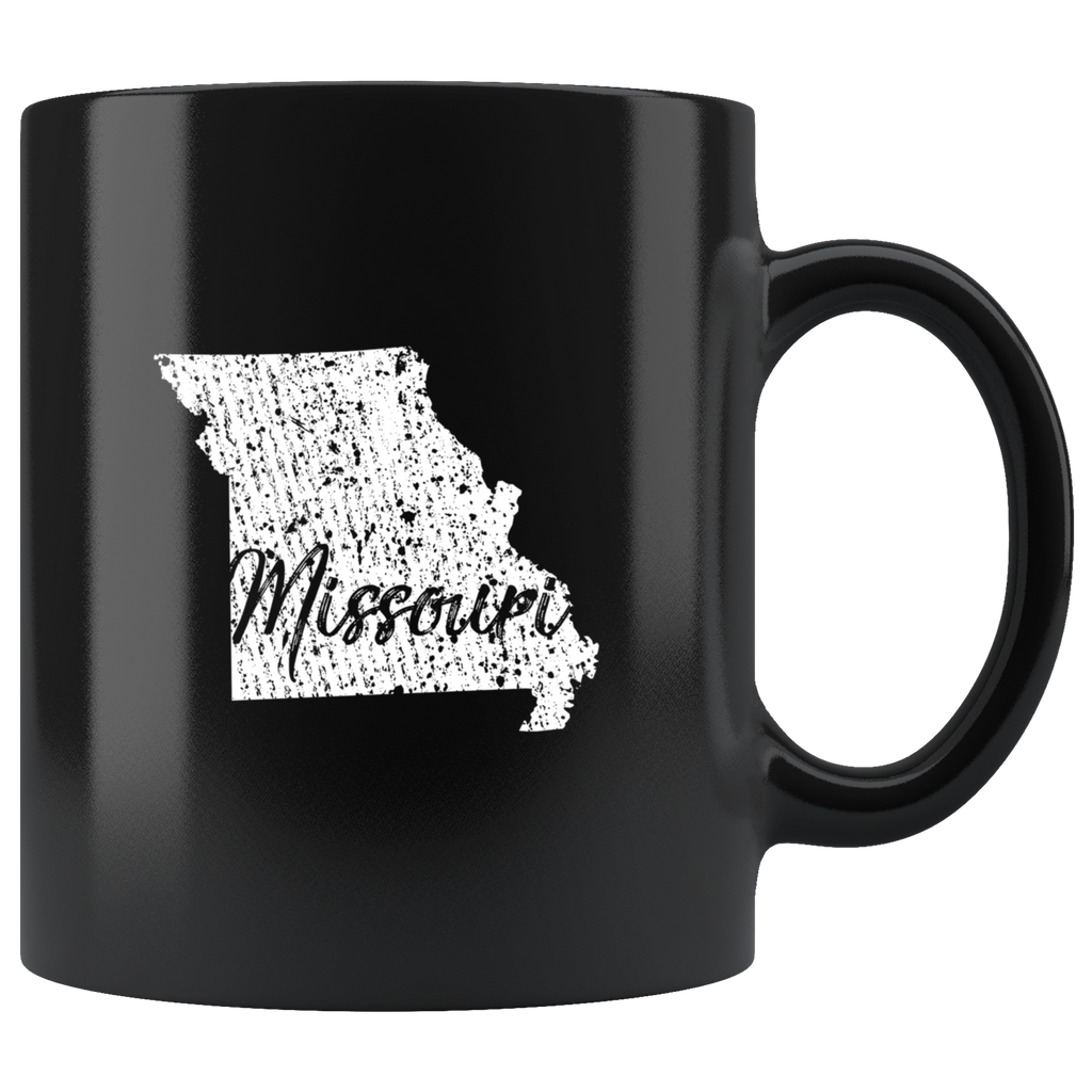 Black 11oz Mug: Missouri Vintage