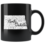 Black 11oz Mug: North Dakota Vintage
