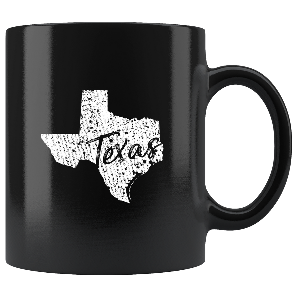 Black 11oz Mug: Texas Vintage