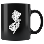 Black 11oz Mug: New Jersey Vintage