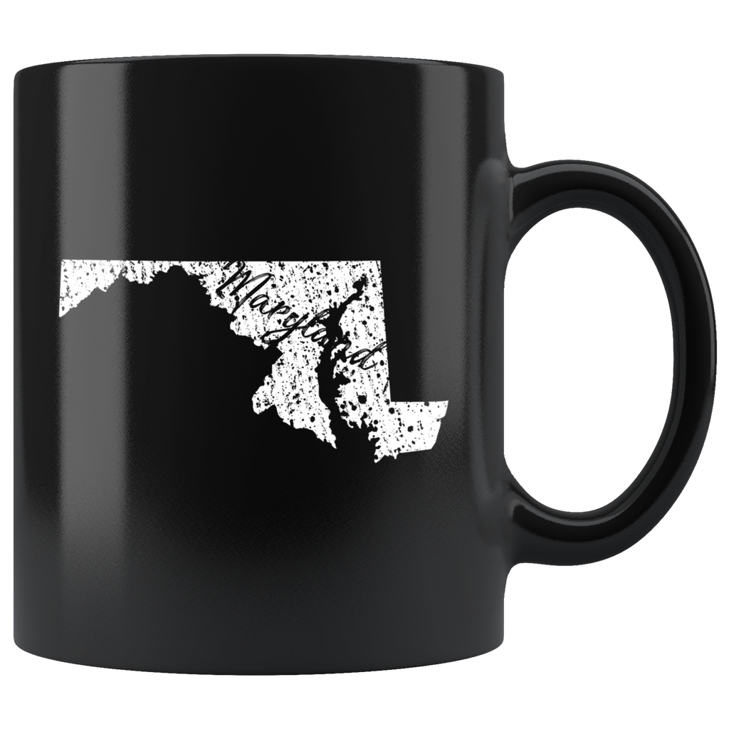 Black 11oz Mug: Maryland Vintage