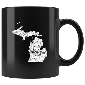 Black 11oz Mug: Michigan Vintage