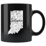 Black 11oz Mug: Indiana Vintage