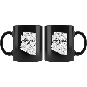 Black 11oz Mug: Arizona Vintage