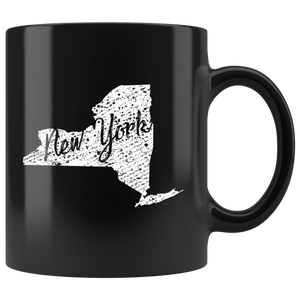 Black 11oz Mug: New York Vintage