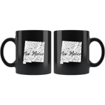 Black 11oz Mug: New Mexico Vintage