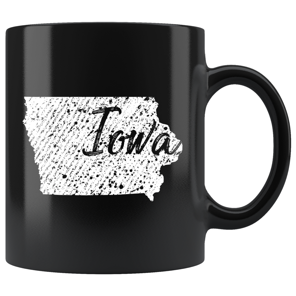 Black 11oz Mug: Iowa Vintage