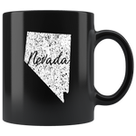 Black 11oz Mug: Nevada Vintage