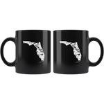 Black 11oz Mug: Florida Vintage